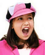 dreamstime girl pink hat singing 3